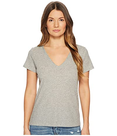 Vince Essential V-Neck Top (Heather Grey) Women
