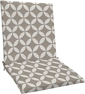 """Best Honeycomb Indoor/Outdoor Hudson Circle Taupe Midback Dining Chair Cushion: Recycled Polyester Fill, Weather Resistant Patio Cushions: 20"""" W x 38"""" L x 2.5"""" T Review"""