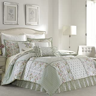 Laura Ashley 220885 Harper Comforter Set, Pale Green, King