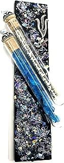 Tamara Baskin Art Glass Wedding Keepsakes Mezuzah, Gift Box and Non-Kosher Scroll Included Hand Made in The USA (Black)