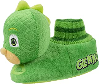 PJ Masks Boys Slippers,Catboy and Gekko,Socktop Slip On Slipper,Toddler Boys and Girls size 5 to 12.