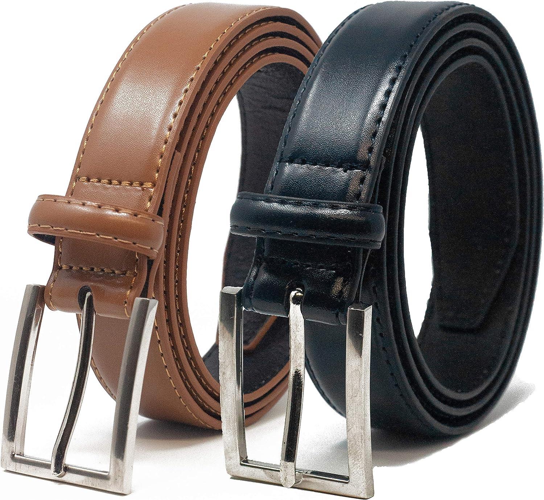 Paquete Doble Ashford Ridge Cintur/ón De Pantalones De Cuero De 30 mm Para Hombres