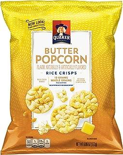 Quaker Popped Rice Crisp Snacks, Buttered Popcorn, 6.06 Ounce (6 Count)
