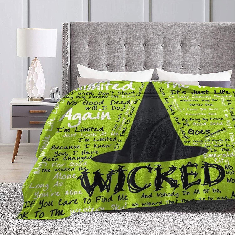 Otikiu Wick-ed Musical 高品質新品 毎日激安特売で 営業中です Fuzzy Blanket Blank Warm Soft Throw Ultra