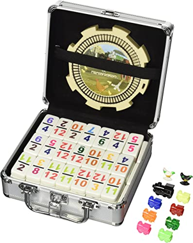 Double 12 Numeral Tiles 2-in-1 Mexican Train Set in Alum Case(Discontinued by manufacturer) by CHH