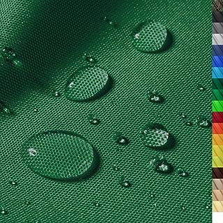 1buy3 Monaco Wasserdichter Polyester Stoff | 12.000 mm Wassersäule | Farbe 13 | Dunkelgrün | Polyester Stoff 160cm breit Meterware wasserdicht Outdoor extrem reissfest