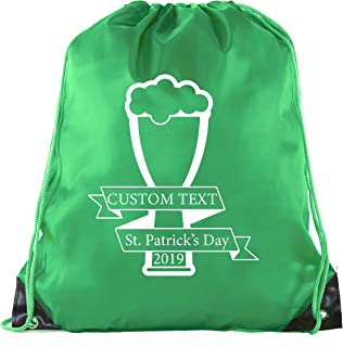 4d12e2d4 Custom St Patrick's Day Backpack Personalized Drawstring Bags, Reusable  Gift bag