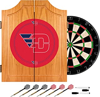 NCAA Dayton dart cabinet with Board and Darts
