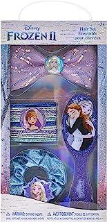 Townley Girl Disney Frozen 2 Hair Accessories Set, Kit Includes, 1 Hair Brush, 10 Hair Tie, 1 Hair Bow 1 Hair Pony, 14 CT