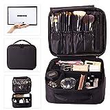 ROWNYEON Makeup Train Case Cosmetic Case Travel Makeup Bag Organizer Mini Train Case Makeup Artist Organizer Portable Storage Bag Multifunction Bag Gift for ...