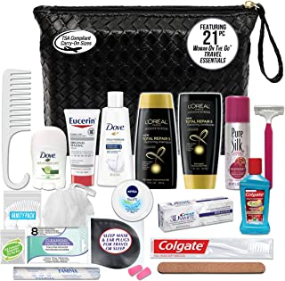Convenience Kits International Women's Premium 21-Piece Assembled Necessities Travel Kit, Featuring: L'Oreal Paris Hair Pr...