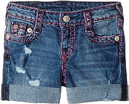 Audrey Super T Boyfriend Shorts in Used Wash (Toddler/Little Kids)