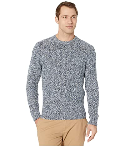 Lucky Brand Cross Marl Stitch Pullover Sweater (Blue Multi) Men