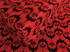 Baroque Bats on Red Gothic Wrapping Paper - 1 Roll of Birthday gift Wrap