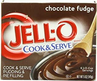 JELL-O Chocolate Fudge Cook & Serve Pudding & Pie Filling Mix (5 oz Boxes, Pack of 24)
