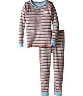 Hatley Kids - Icy Stripes Henley Pajama (Toddler/Little Kids/Big Kids)