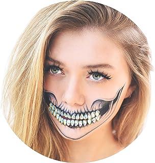 Tattoocrew 4 x Halloween Tattoos Totenkopf + 30 Glitzerstein