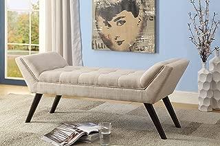 Baxton Studio Wholesale Interiors Tamblin Mid-Century Retro Linen Fabric Upholstered Grid-Tufting 50