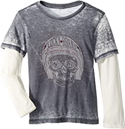 Lucky Brand Kids - Long Sleeve Graphic Doubler (Little Kids/Big Kids)