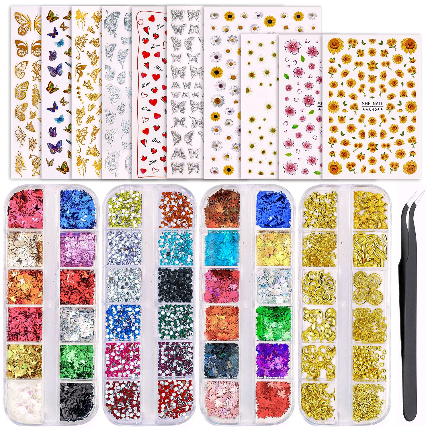 JOYJULY Professional Max Seasonal Wrap Introduction 66% OFF 3D Nail Art Decoration with Set S 10 Sheets