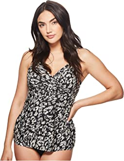 Cat Walk Empire Shirred Tankini Top