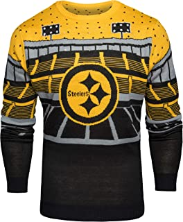 FOCO NFL Pittsburgh Steelers Mens Light Up Bluetooth Speaker Sweaterlight Up Bluetooth Speaker Sweater