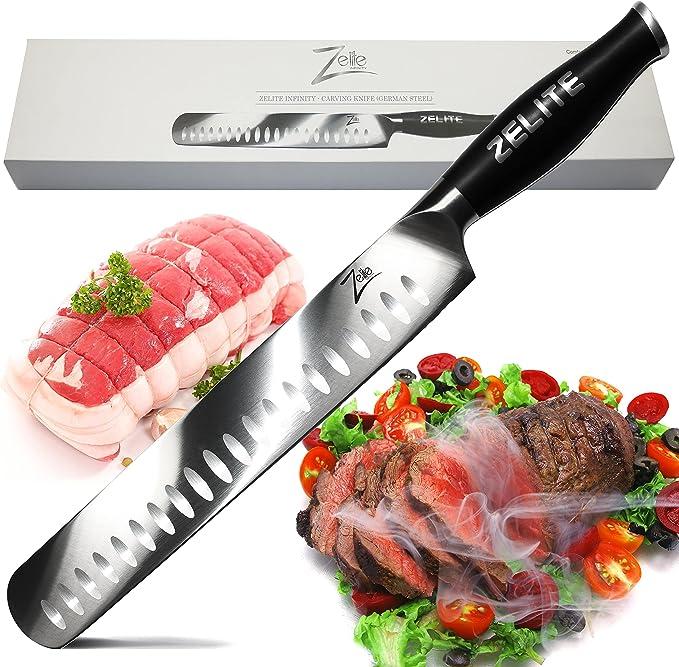 Zelite Infinity Slicing Carving Knife – Best Ergonomically Designed Brisket Knife