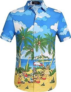 Men's Xmas Holiday Button Down Ugly Hawaiian Christmas Shirts