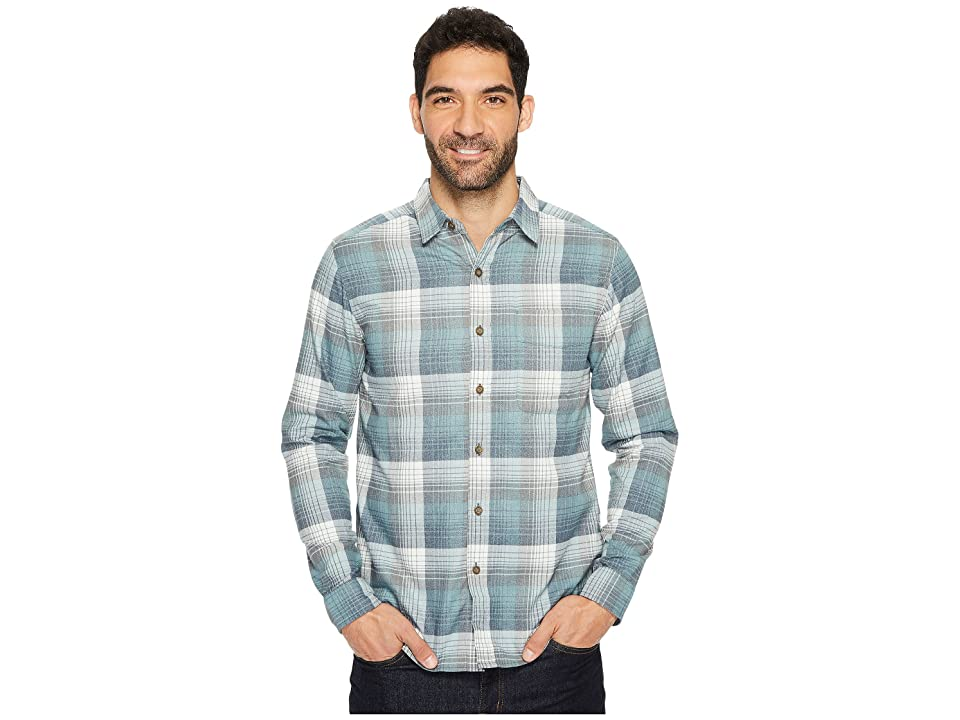 Royal Robbins Vintage Performance Flannel Plaid Long Sleeve Shirt (Slate) Men