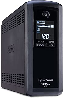 CyberPower CP1350AVRLCD Intelligent LCD UPS System, 1350VA/815W, 10 Outlets, AVR, Mini-Tower