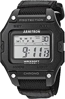 Armitron Sport Men's Digital Chronograph Black Nylon Strap Watch, 40/8461BLK