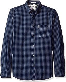 Ben Sherman Men's Slim Fit Gingham Button Down Collar Dress Shirt