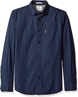 Ben Sherman Men's Slim Fit Gingham Button Down Collar Dress Shirt