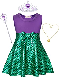 Little Girls Princess Costume Dress Birthday Party Cosplay Jewelry Accessories