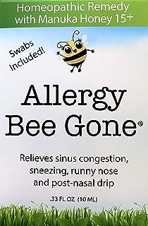 Allergy Bee Gone Natural Nasal Swab Remedy for Seasonal Allegies w/Manuka Honey - Allergy Symptom Relief