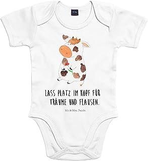 Mr. & Mrs. Panda Mr. & Mrs. Panda Baby, Strampler, 18-24 Monate Baby Body Kuh mit Spruch - Farbe Transparent