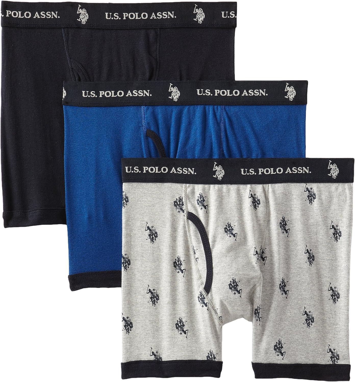 U.S. Polo Assn. Men's 3-Pack Cotton Boxer Briefs