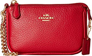 COACH Womens Pebble Leather Small Wristlet 15