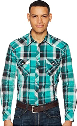 Rock and Roll Cowboy - Plaid Long Sleeve Snap B2S5709