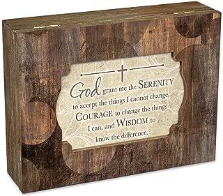 God Grant Serenity Prayer Courage Deco Woodgrain Jewelry Music Box Plays Friend in Jesus