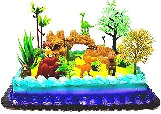 Good Dinosaur Birthday Cake Topper with Sport, Arlo, Random Dinosaur Friends and Themed Accessories