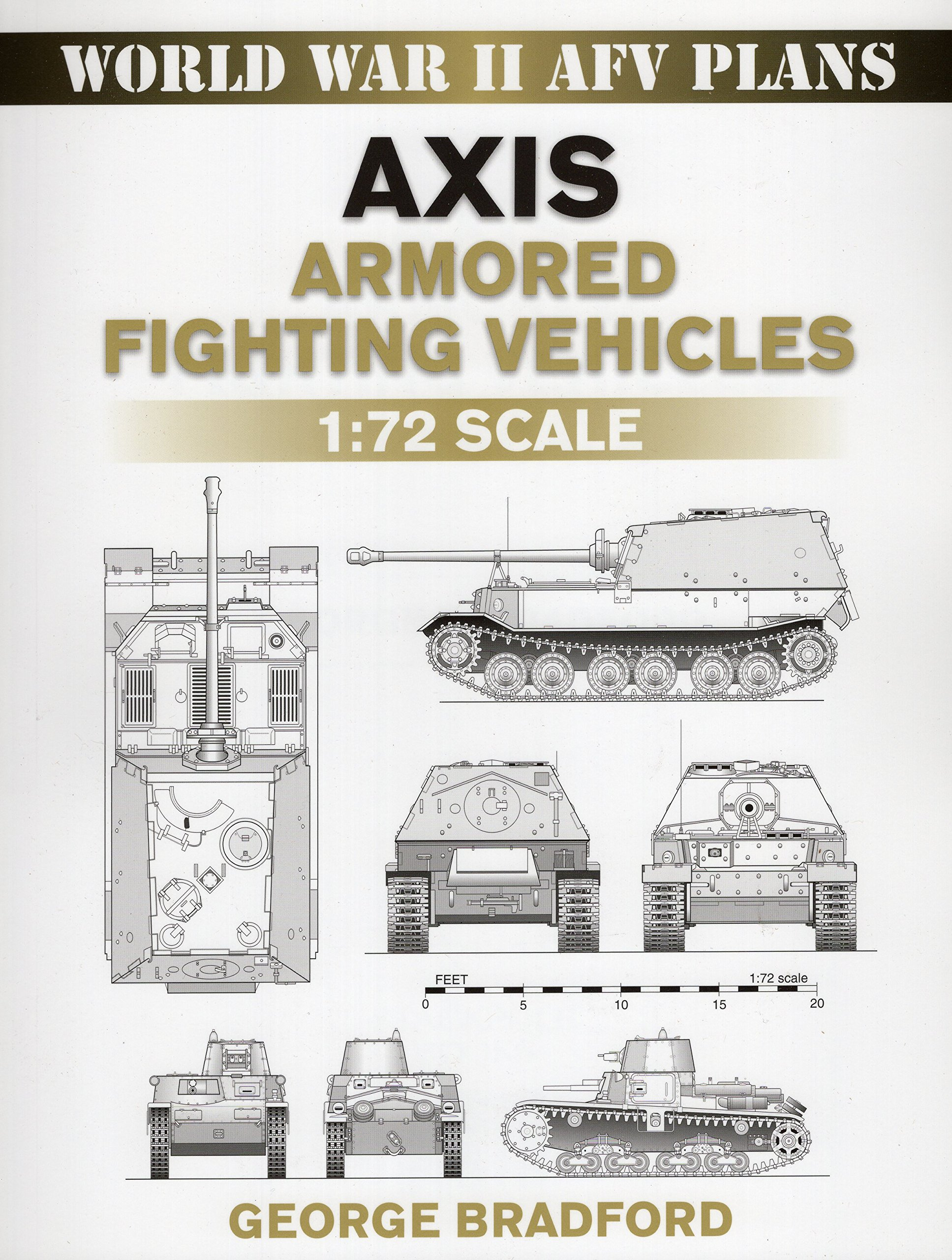 Image OfAxis Armored Fighting Vehicles: 1:72 Scale (World War II AFV Plans)