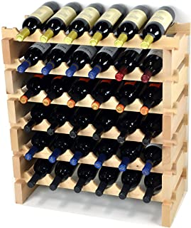 Wine Rack Wood -36 Bottles Modular Hardwood Wine Racks (6 bo