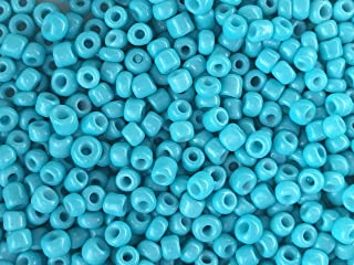 Cousin Czech Glass Beads 10 grams 11//0 Turquoise Alabaster Seed Beads