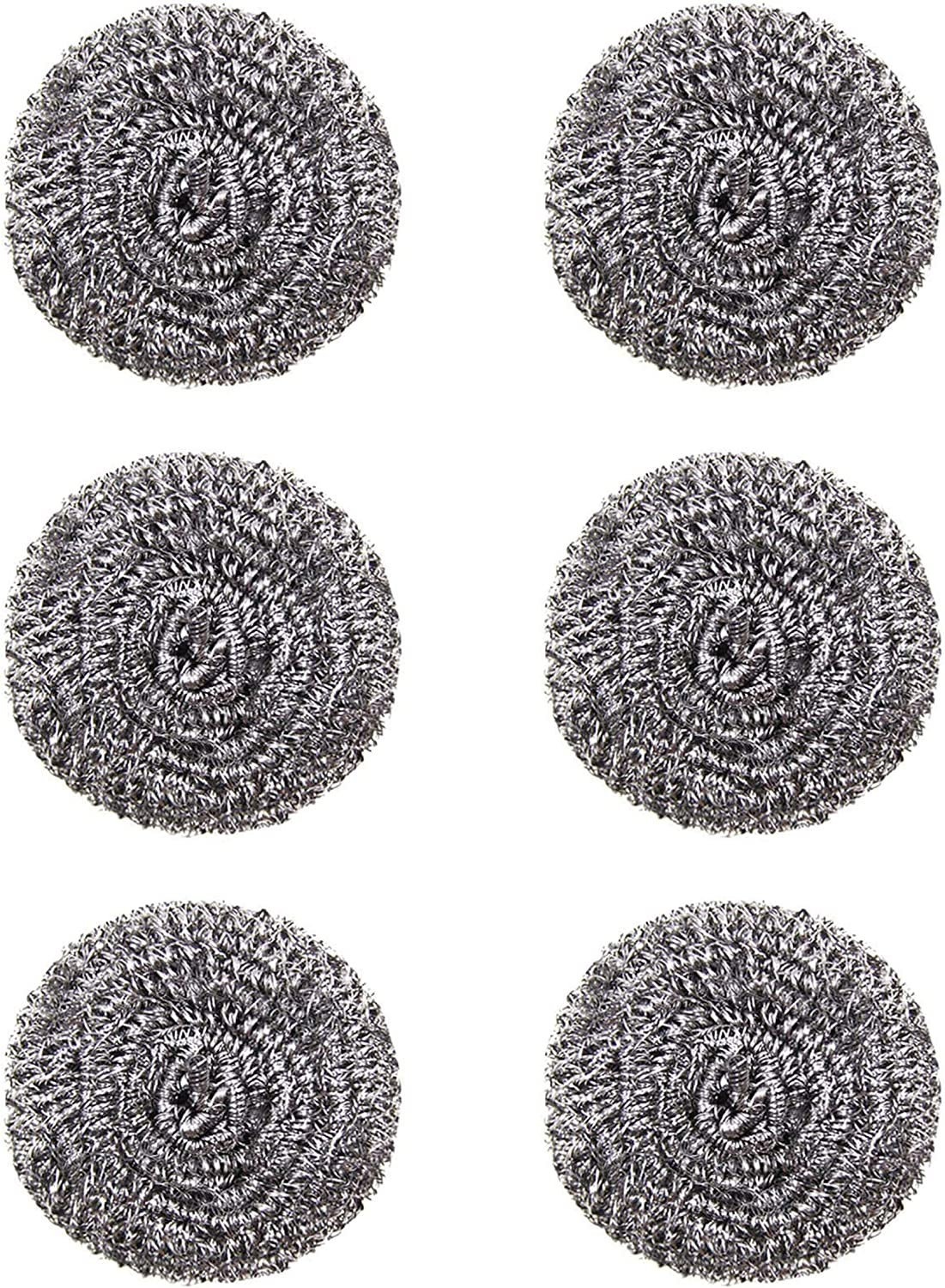 YYaaloa 6pcs Large Stainless 4'' Ranking TOP20 Scourers Steel Max 79% OFF