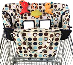 Best 2-in-1 Croc n Frog Shopping Cart Cover and High Chair Covers for Baby Boy or Girl - Toy Loops for Babies - Cover Folded into its Pouch - Easy to Carry - Machine Washable - Perfect Baby Shower Gifts Review