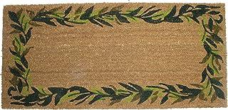 DII Natural Coir Coco Fiber Non-Slip Outdoor/Indoor, Welcome Doormat, 22x47, Bayleaves