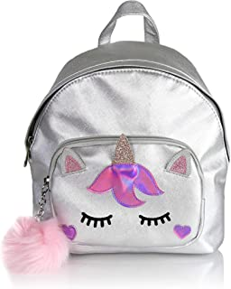Holographic Unicorn Daypack- Mini Cute Glitter Women's Travel Backpack School Bag