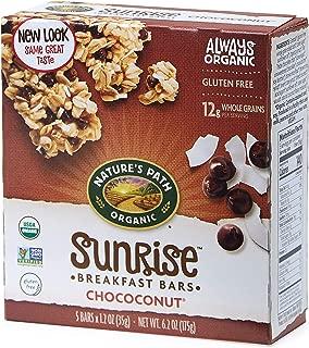 Nature's Path Organic Sunrise Breakfast Biscuits, Dark Chocolate & Coconut, 6.2 Ounce Box