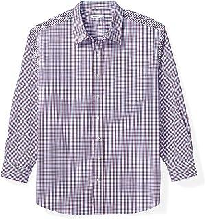 Amazon Essentials Men's Big & Tall Long-Sleeve Plaid Shirt fit by DXL
